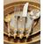 Столовые приборы с позолотой Empire Flame Clive Christian, 12 персон 125 предметов, фото 1